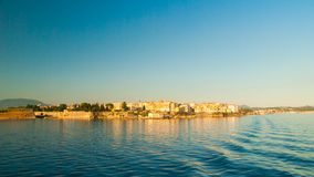 Corfu town - Greece. View from the sea Stock Image