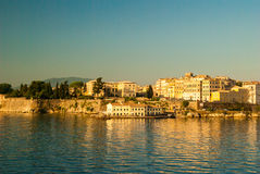 Corfu town - Greece. View from the sea Stock Photography