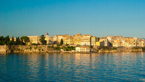 Corfu town - Greece. View from the sea Stock Photos
