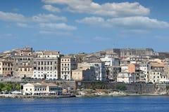 Corfu town Ionian island Stock Image