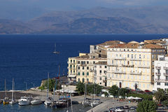 Corfu town Ionian island Royalty Free Stock Images
