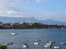 Corfu town on the Island of Corfu Stock Photography