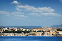 Corfu town and new fortress Royalty Free Stock Photo