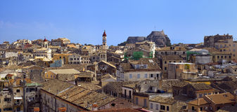 Corfu Town Panorama Stock Photography