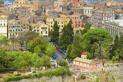 Corfu town panorama, Corfu Greece Stock Photo