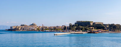 Corfu Town panorama Royalty Free Stock Images