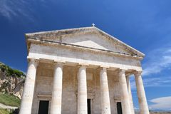 Corfu Town - Saint George Temple Stock Photography