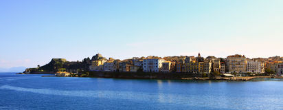 Corfu town from the sea royalty free stock photos