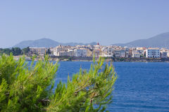Corfu town from the sea Stock Images
