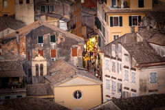 Corfu town, shopping street Royalty Free Stock Photography