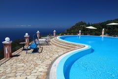 Corfu vacation resort stock photography