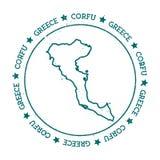 Corfu vector map. Stock Photo