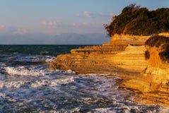 Corfu wybrzeże Zdjęcia Royalty Free