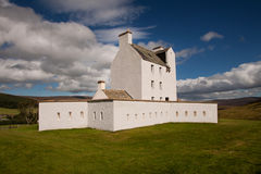 Corgarff Castle, Aberdeenshire, Scotland. Corgarff Castle, Strathdon, Aberdeenshire, Scotland is tower house fortress with an unusual star shaped perimeter wall Stock Images