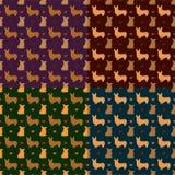 Corgi dog seamless pattern vector background Royalty Free Stock Photography