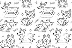 Corgi Coloring Book Stock Vector Illustration Of Cute 74047576