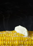 Corh with butter. Royalty Free Stock Photography