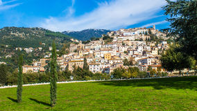 Cori,在拉提纳,意大利附近的一个镇 库存照片