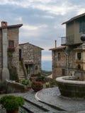 Cori lazio. View of cori lazio italy stock photo