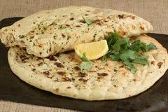 Coriander and garlic naan Royalty Free Stock Image