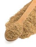 Coriander powder and spoon Stock Photo