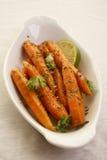 Coriander Roasted Carrots Royalty Free Stock Photo