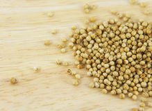 Coriander seed on table Stock Images
