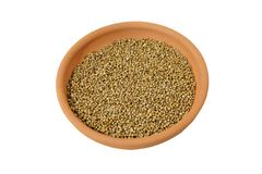 Coriander seeds in a bowl Royalty Free Stock Images