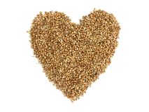 Coriander seeds a heart Royalty Free Stock Images