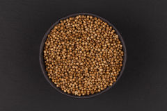 Coriander seeds in  small bowl Royalty Free Stock Image