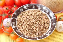 Coriander seeds. Some coriander seeds in a bowl Stock Photography