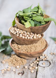 Coriander in small Bowls Royalty Free Stock Photos