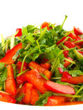 Coriander and sweet pepper salad Royalty Free Stock Images