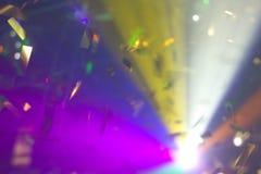 Coriandoli alle luci Fotografia Stock