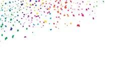 Coriandoli, arcobaleno variopinto luminoso di caduta di spettro dello spargimento della carta, vettore del fondo dell'estratto di royalty illustrazione gratis