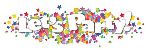Coriandoli Art Logo dell'insegna del partito Fotografia Stock Libera da Diritti