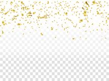Coriandoli astratti dell'oro di celebrazione del fondo Fondo di vettore illustrazione di stock