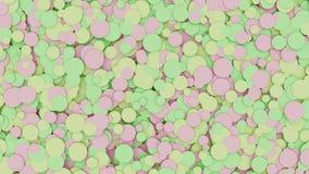 Coriandoli colorati pastello video d archivio