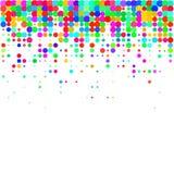 Coriandoli Colourful su un fondo bianco illustrazione di stock