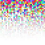 Coriandoli Colourful su un fondo bianco illustrazione vettoriale