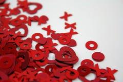Coriandoli dei biglietti di S. Valentino Fotografie Stock