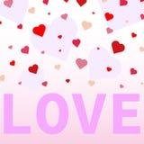Coriandoli del cuore valentines illustrazione vettoriale