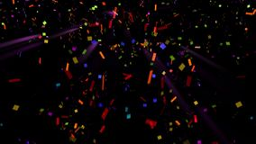 Coriandoli delle farfalle per i vostri progetti di festa o del partito video d archivio