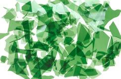 Coriandoli di vetro verdi Frammenti di vetro colorato molto sottile per fondere immagine di sfondo, struttura fotografia stock libera da diritti