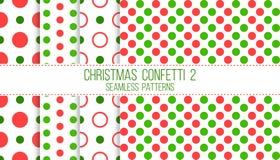 Coriandoli 2, modelli senza cuciture di Natale royalty illustrazione gratis
