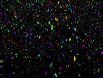 Coriandoli multicolori di caduta densi che cadono con l'alfa royalty illustrazione gratis