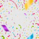 Coriandoli multicolori su un fondo a quadretti Può essere usato sopra tutta l'immagine illustrazione di stock