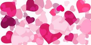 Coriandoli rosa del cuore illustrazione di stock