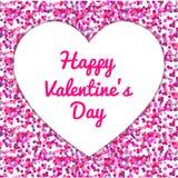 Coriandoli rosa, vettore felice di San Valentino fotografia stock libera da diritti