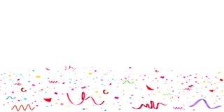 Coriandoli variopinti luminosi di caduta di scintillio, celebrazione delle stelle, serpentina Volo di carta dello spargimento dei illustrazione vettoriale